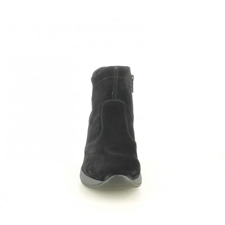 Botines Nero Giardini negro de ante con adorno en el contrafuerte - Querol online