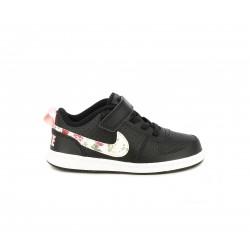 Zapatillas deporte Nike negras con detalles florales