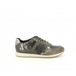 Zapatillas deportivas Geox marrones con tonos brillantes y textura