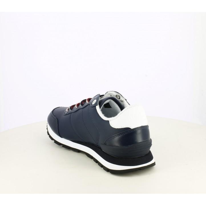 Zapatos sport Tommy Hilfiger azul marino con detallesn en blanco y rojo - Querol online