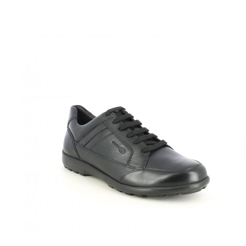 Resplandor dorado pedazo  Zapatos sport negros de cordones amb plantillas transpirables Geox ...