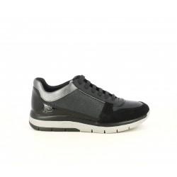 Zapatillas deportivas Geox negras con detalles en charol y tonos brillantes