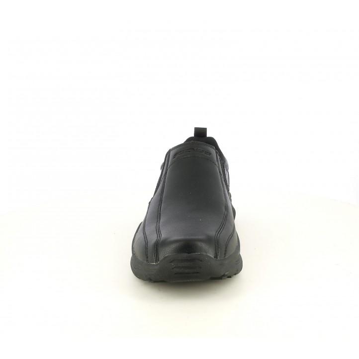 Sabates sport Skechers negres, mocasín amb elàstics i plantilles memory foam - Querol online
