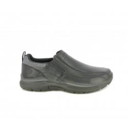 Zapatos sport Skechers negros, mocasím con elásticos y plantilla memory foam - Querol online
