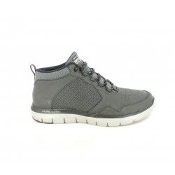 Botines Skechers grises de cordones plantilla memory foam - Querol online