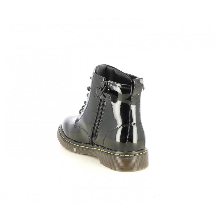Botines K-Tinni negras de charol con cordones - Querol online