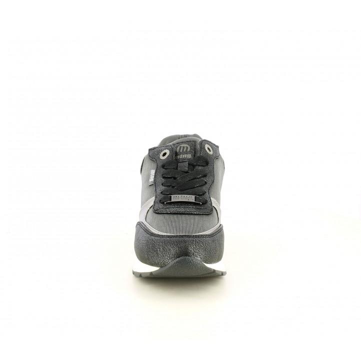 Zapatillas deportivas Mustang grises metalizados con cuña interior - Querol online