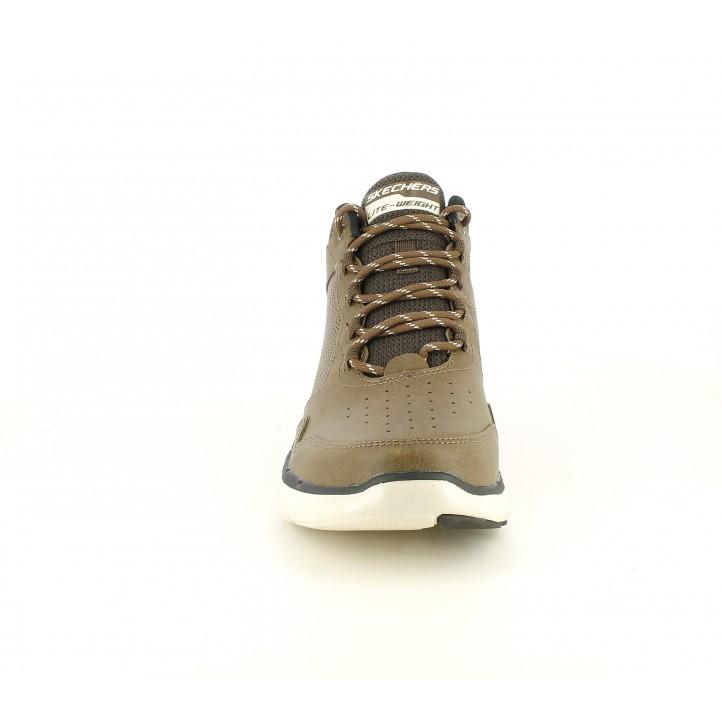 Botines Skechers marrones con cordones plantilla memory foam - Querol online