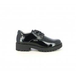 Zapatos K-Tinni negros de charol con cordones - Querol online