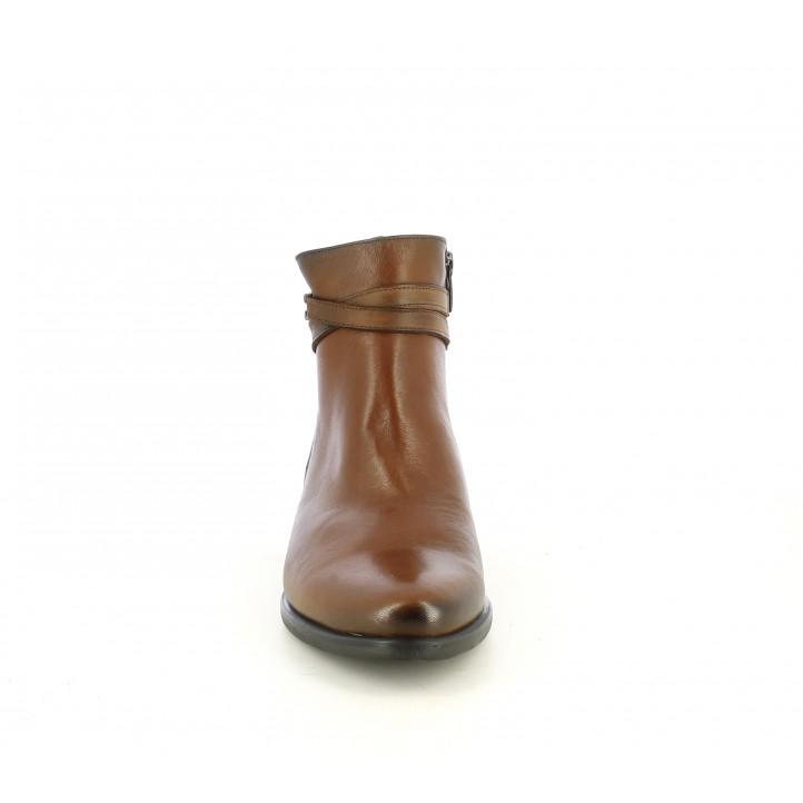 Botins de taló DORKING marrons amb cremallera lateral, folro tèrmic - Querol online