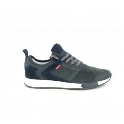 Zapatillas deportivas Levi's azul marino con cordones y plantilla extraible - Querol online