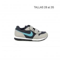Zapatillas deporte Nike MD RUNNER 2 gris, negra y azul