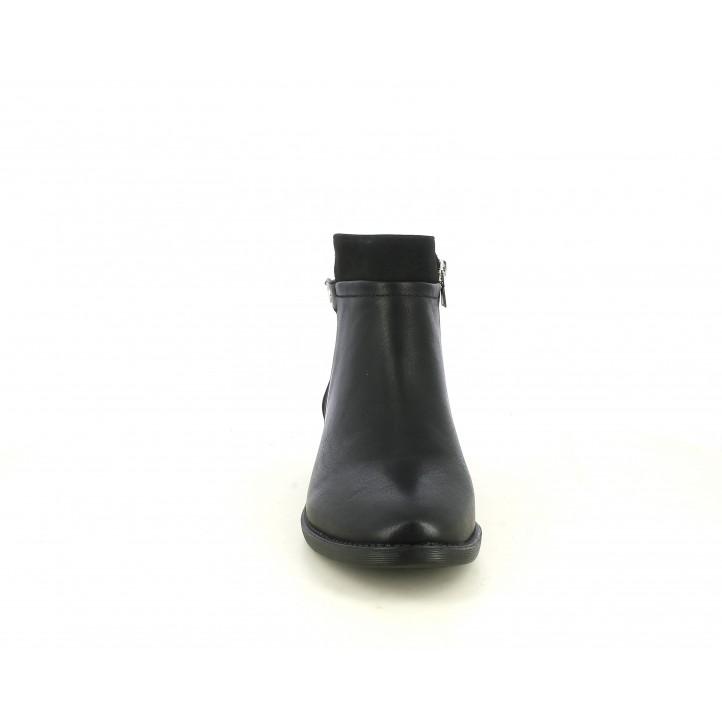 Botines tacón Maria Mare negros con diferentes texturas - Querol online