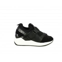 Zapatillas deportivas SixtySeven 67 negras con velcro y cierre de plástico en el empeine - Querol online