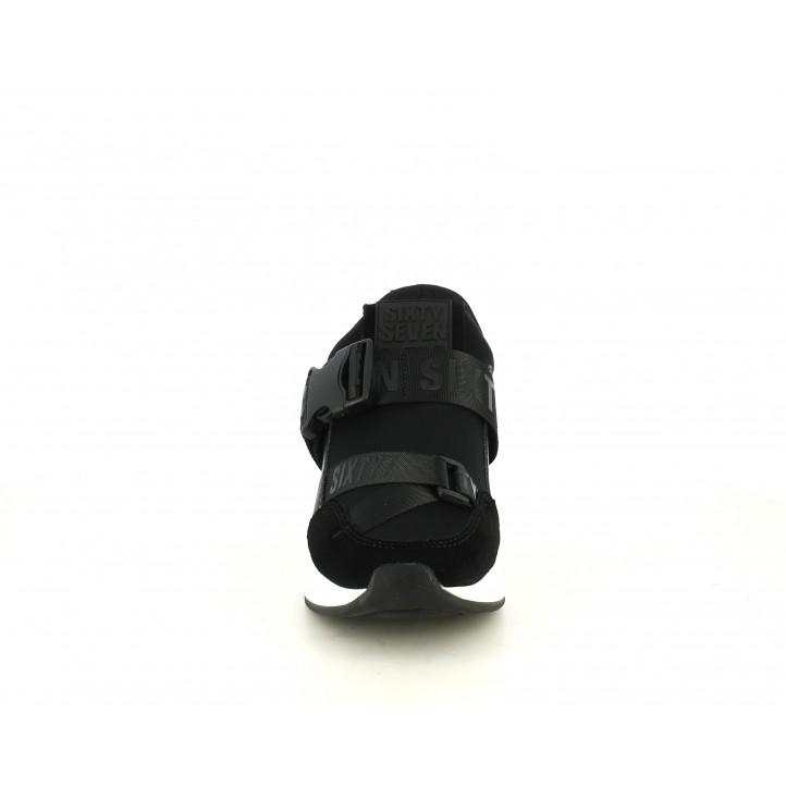 Sabatilles esportives SixtySeven 67 negres amb velcro i tancament de plàstic en l´empenya - Querol online