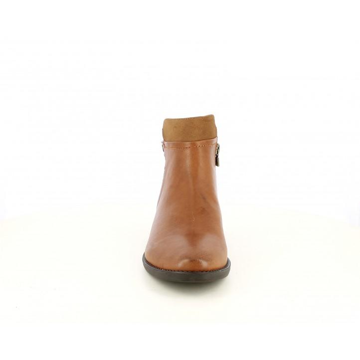 Botins de taló Maria Mare marrons amb diferents textures - Querol online