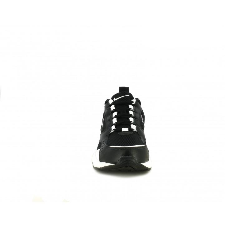 Zapatillas deportivas Nike negras de cordones modelo airheights - Querol online