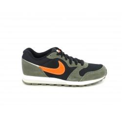 Zapatillas deportivas Nike md runner en verde, negro y naranja - Querol online