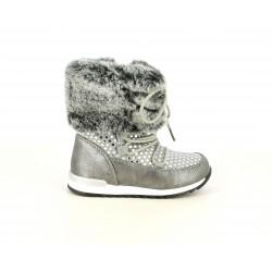Botas CRECENDO gris con detalles brillantes al tono - Querol online