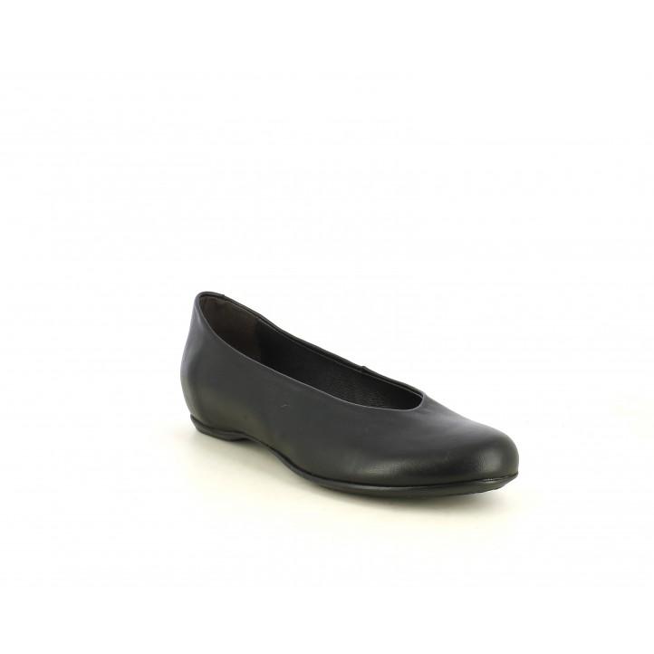 Zapatos planos Suite009 negras con cuña interna - Querol online