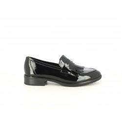 Zapatos tacón Suite009 negros de charol con flecos - Querol online
