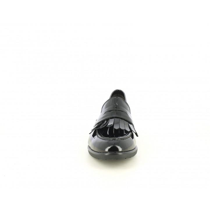 Sabates de taló Suite009 negres de xarol amb serrells - Querol online