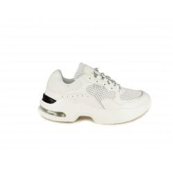 Zapatillas deportivas Xti blancas con tejino de rejilla y cordones - Querol online