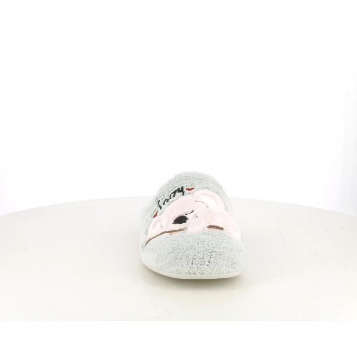 Zapatillas casa Vul·ladi gris con koala rosa - Querol online
