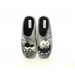 Zapatillas casa Vul·ladi grises con deseño monstruo lunes-viernes - Querol online