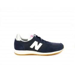 Zapatillas deportivas New Balance azul marino con blanco y plateado