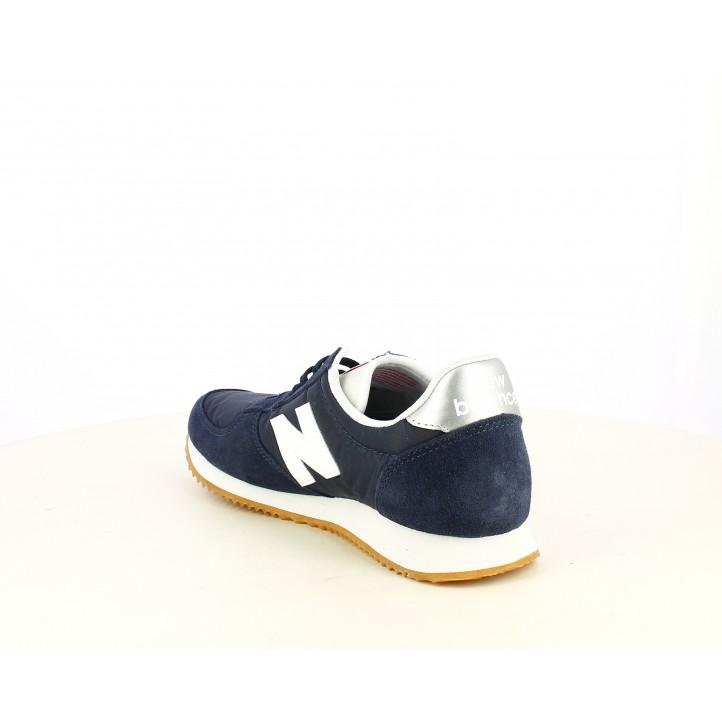 Zapatillas deportivas New Balance azul marino con blanco y plateado - Querol online