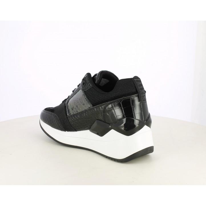 Zapatillas deportivas SixtySeven 67 negro con cuña y serpiente grabado en negro - Querol online