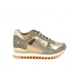 Zapatillas deportivas Gioseppo taupe con cuña interior de 5cm - Querol online