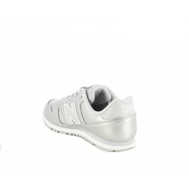 Zapatillas deportivas New Balance plateado con detalles en blanco - Querol online