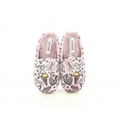 Zapatillas casa Vul·ladi rosas con dibujos - Querol online