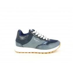 Zapatillas deportivas Pepe Jeans azul marino combinado con diferentes texturas