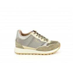 Zapatillas deportivas Pepe Jeans marrones y dorados con diferentes texturas
