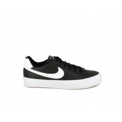 Zapatillas deportivas Nike court royales ac negras con cordones - Querol online