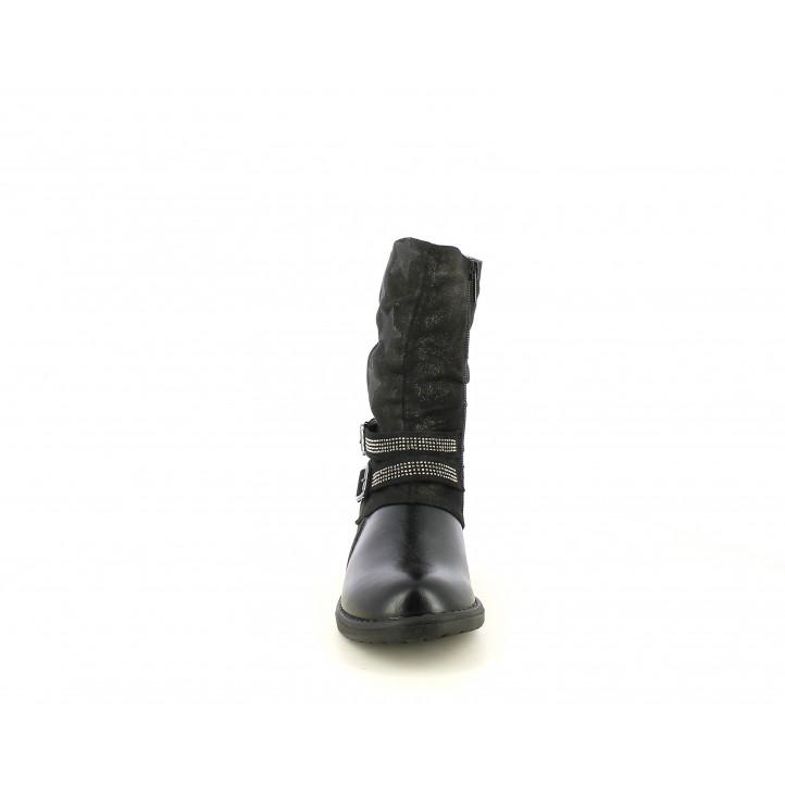 Botas QUETS! negras con tejido brillante con estrellas - Querol online