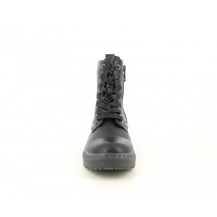 Botines XTI KIDS negros con cordones y cremallera interior - Querol online