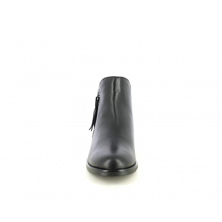 Botines tacón Redlove negro con flecos en la cremallera - Querol online