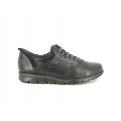Zapatos planos Fluchos negros , atadura con elásticos - Querol online