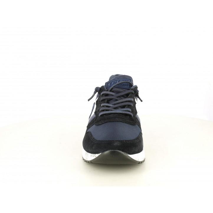 Zapatillas deportivas Cetti azul marino con detalles blancos y cordones elásticos - Querol online