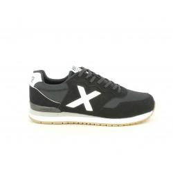 Zapatillas deportivas MUNICH dash negras con detalles blancos - Querol online
