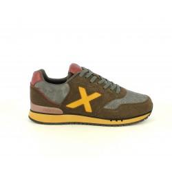 Zapatillas deportivas MUNICH dash marrones con detalles en gris - Querol online