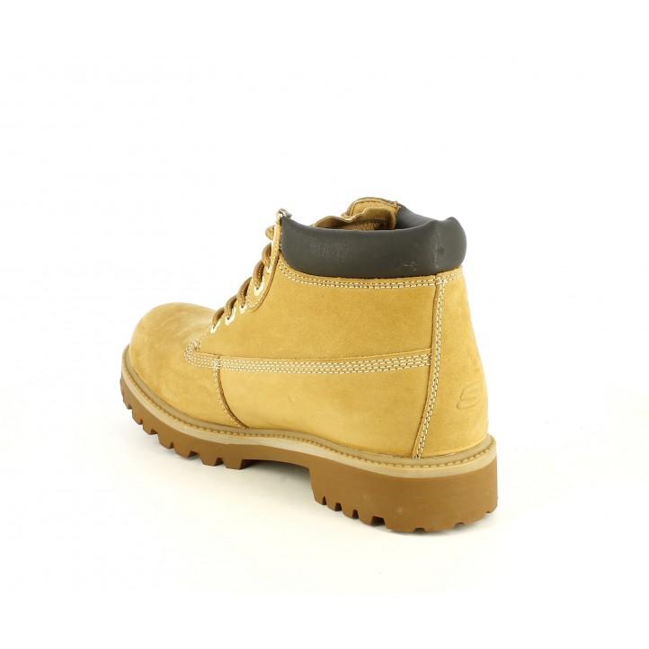 Botins Skechers marrons amb cordons i resistent a l´aigua - Querol online