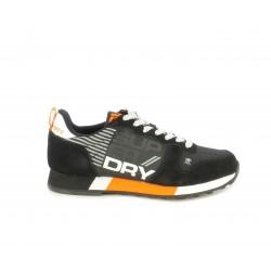 Zapatillas deportivas Superdry negras con detalles en naranja y blanco - Querol online