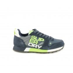 Zapatillas deportivas Superdry azul marino con detalles en verde y blanco - Querol online
