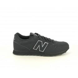 Zapatillas deportivas New Balance negras con detalle en plateado - Querol online