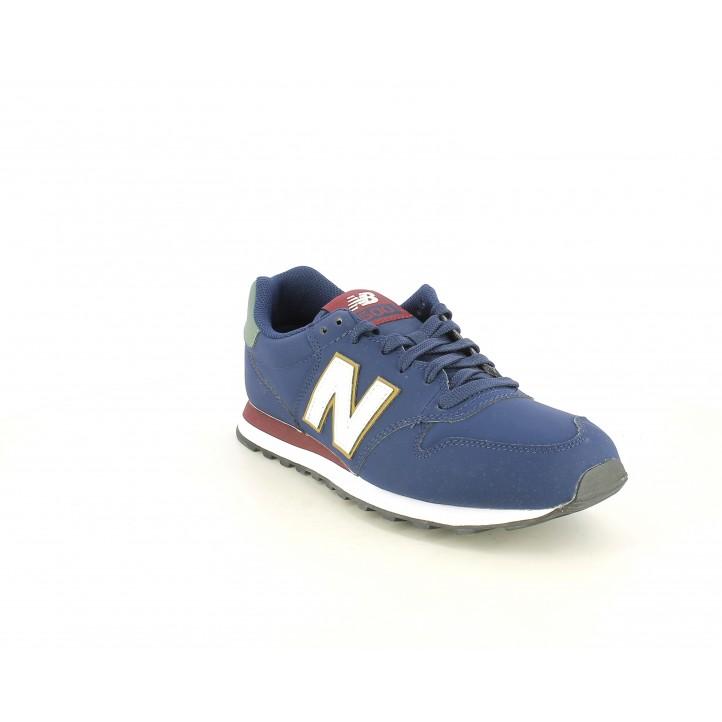 Zapatillas deportivas New Balance azul marino con detalles en blanco - Querol online